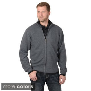 Vance Co. Men's High Collar Zip-up Knit Sweater