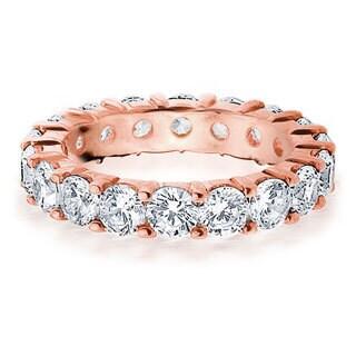 Amore 14k or 18k Rose Gold 4ct TDW Diamond Wedding Band (G-H, SI1-SI2)