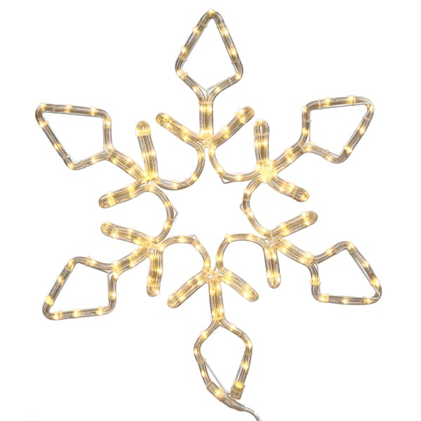 24-inch LED 130-light Pure White Diamond Snowflake