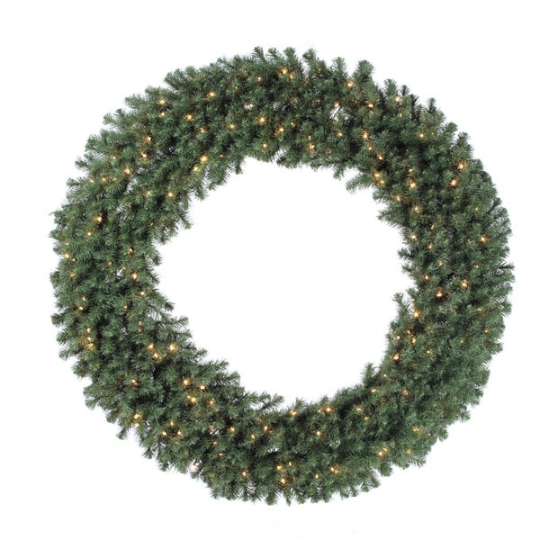 72-inch Douglas Wreath Dura-Lit with 200 Clear Lights, 1100 Tips 14303353