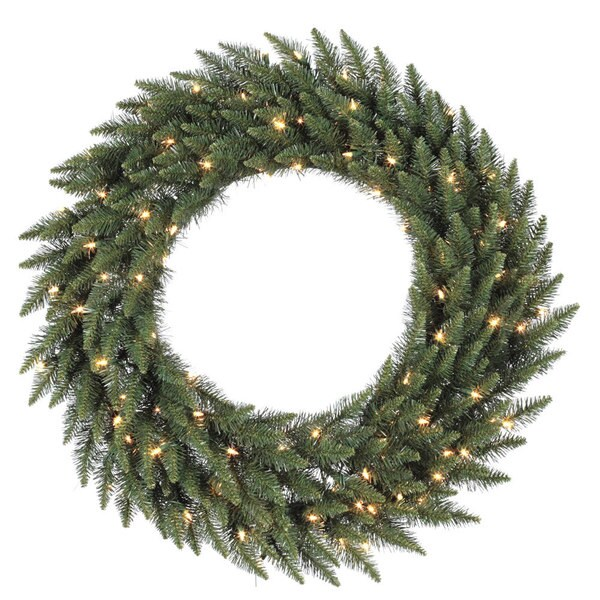 72-inch Camdon Fir Wreath Dura-Lit with 400 Clear Lights 14303381
