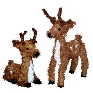 20-inch Standing and Resting Reindeer Set