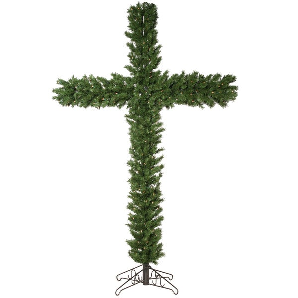 7.5-foot Christmas Cross 782T with 250 Clear Lights