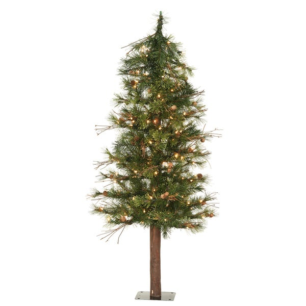 5-foot x 30-inch Mixed Country Alpine Tree with 150 Clear Lights