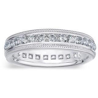 Amore Platinum 1ct TDW Diamond Wedding Band (G-H, SI1-SI2)