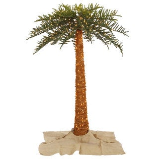 8-foot Outdoor Royal Palm Tree with 650 Clear Lights, 896 Tips