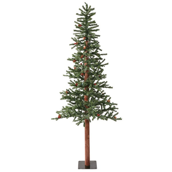 6-foot x 34-inch Frosted Alpine Berry with LED 250 Warm White Lights