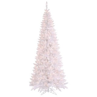 10-foot x 50-inch White Slim Fir with 900 Clear Lights, 2260 Tips