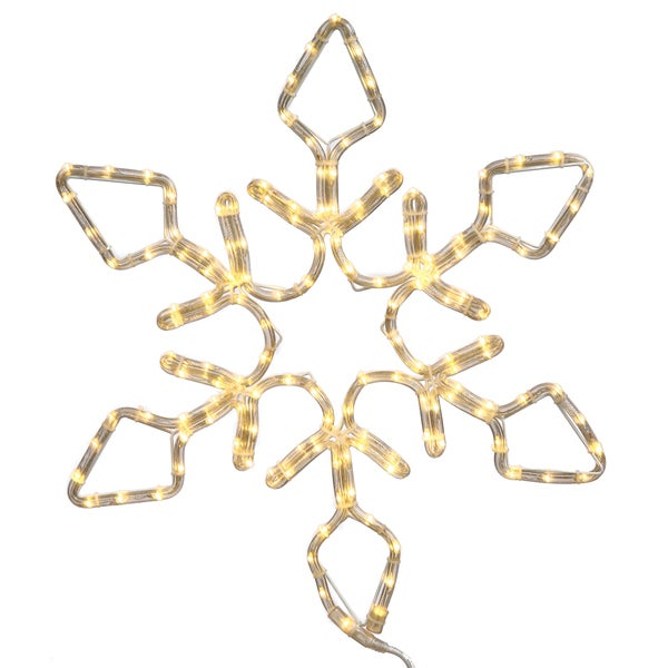 72-inch LED 416-light Pure White Diamond Snowflake