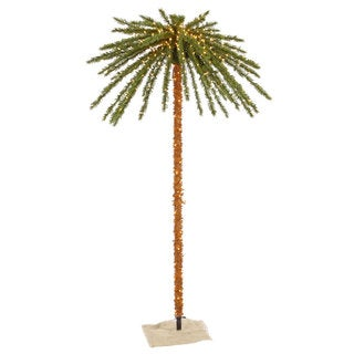 7-foot Outdoor Palm Tree with 500 Clear Lights, 73 Tips