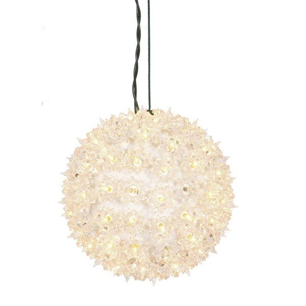 100-light x 7.5-inch Clear Twinkle Star Sphere