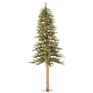 5-foot x 48-inch Natural Alpine Tree with 150 Clear Lights, 457 Tips