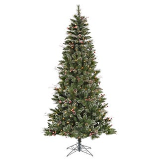 7-foot x 42-inch Snow Tip Berry Tree with 350 Clear Lights