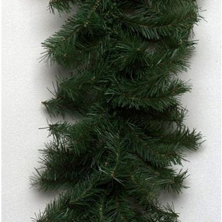 50-foot x 10-inch Canadian Garland 200 Clear Lights, 1320 Tips