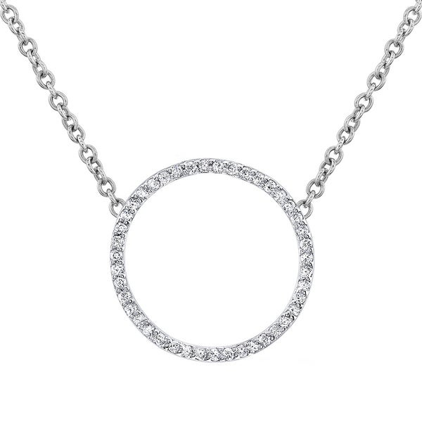 Gold and Diamond Circle of Life Necklace