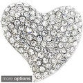 Crystal Heart Pin Brooch