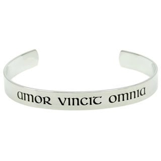 Latin & English Love Conquers All Poesy Bracelet