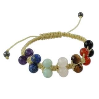 Handcrafted Multi-gemstone 'Inner Balance' Chakra Bracelet (India)