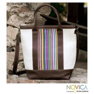 Cotton Leather 'New Adventures' Shoulder Bag (Guatemala)
