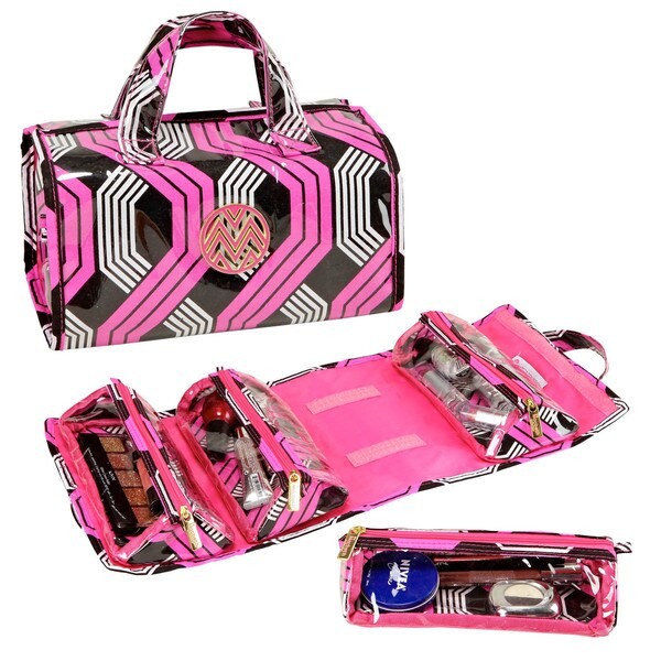 The Macbeth Collection Tyler Pop 4-Compartment Roll-Up Travel Bag