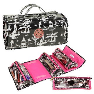 The Macbeth Collection Glamour Toile 4-Compartment Roll-Up Weekender Bag