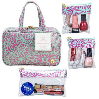 SedaFrance Molee Moon Melon MJ Cosmetic Bag with 3 Removable Compartments