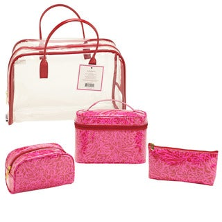 SedaFrance Molee Valentine Four-Piece Clear Cosmetic Tote Set