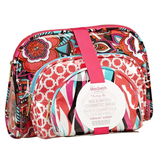 The Macbeth Collection Madison 3-Piece Cosmetic Bag Set
