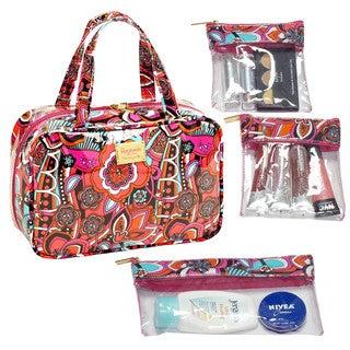 The Macbeth Collection Stella Madison MJ Cosmetic Bag with 3-Removable Compartments