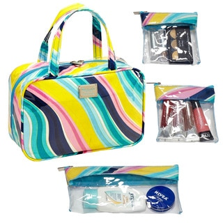 The Macbeth Collection Harlow Malibu MJ Cosmetic Bag with 3-Removable Compartments