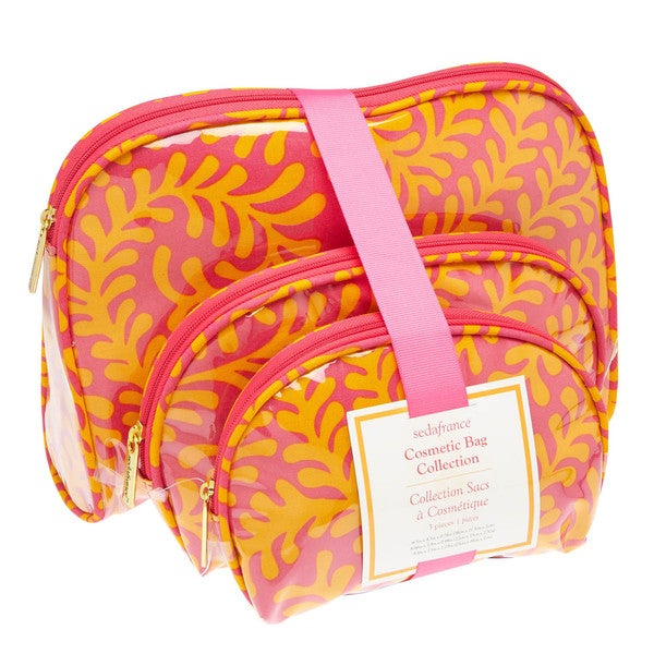 SedaFrance Fern Tropics Three-Piece Cosmetic Bag Set