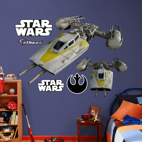 Fathead Star Wars Y-Wing Starfighter Wall Decals