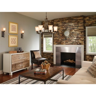 Warwick One-light Wall Sconce in Autumn Bronze with Smoky Parchment Glass Fixture