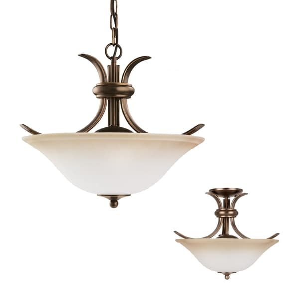 Two-light Rialto Close To Ceiling Fixture