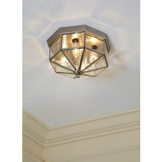 Three-light Bound Glass Ceiling Fixture