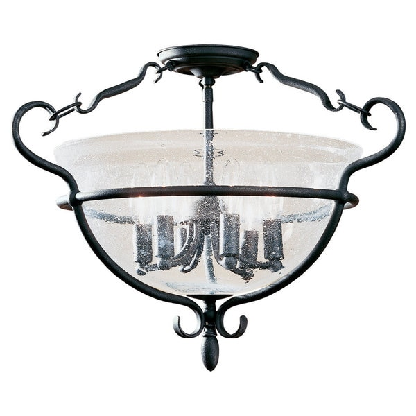 Six-light Manor House Close to Ceiling Fixture