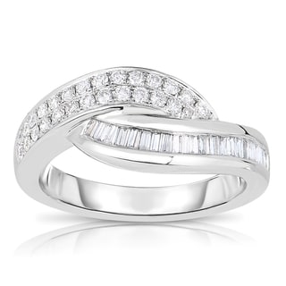 Eloquence 14k White Gold 1/2ct TDW Wave Diamond Band (H-I, SI2-SI3)