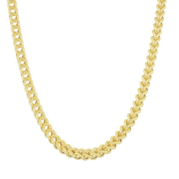 Fremada 14k Yellow Gold Bold Square Franco Necklace (22 inch)