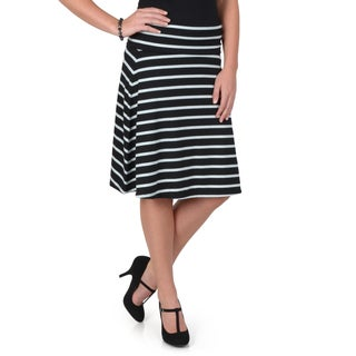 Hailey Jeans Co. Junior's Comfort Striped A-Line Skirt