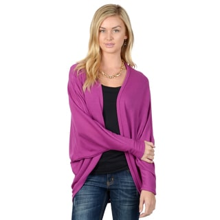 Journee Collection Women's Dolman Long Sleeve Open Front Cardigan
