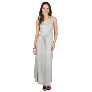 Hailey Jeans Co. Junior's Sleeveless Drawstring Accent Maxi Dress