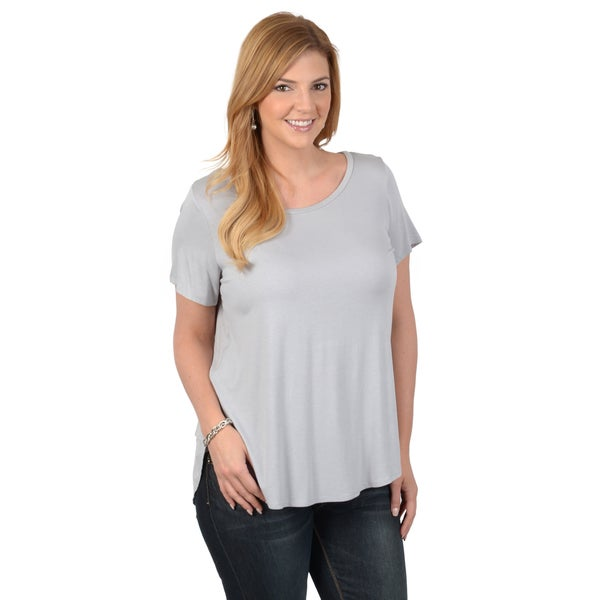 Tressa Collection Women's Plus Short-sleeve Comfort Tee Shirt