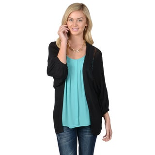 Journee Collection Women's Dolman Sleeve Knit Cardigan