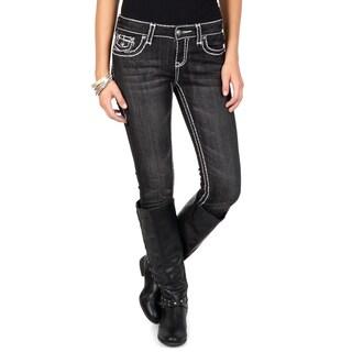 L.A. Idol Junior's Contrast Stitching Skinny Jeans