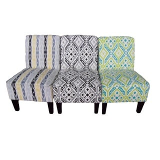 Hodedah Armless Accent Chair
