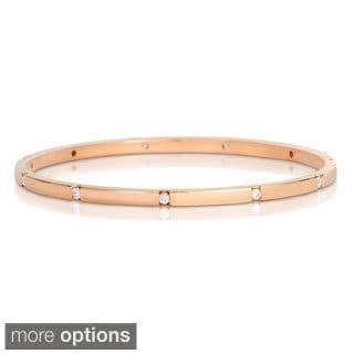 Eloquence 14k Gold 1/2ct TWD Diamond Bangle Bracelet (H-I, I1-I2)