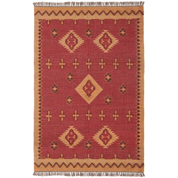 Woven Antiquity Jute Wool Flat Weave Rug 10 X14