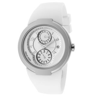 Philip Stein Women's 'Active' 31-AW-RW White Rubber Watch