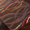 Artfully Crafted Bellingham Abstract Polyester Area Rug-(3'6 x 5'6)