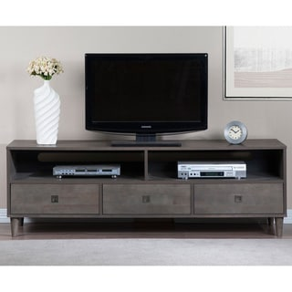 Marley Rubberwood Grey Entertainment Center